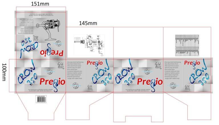 Pregio CROW 350 κουτί
